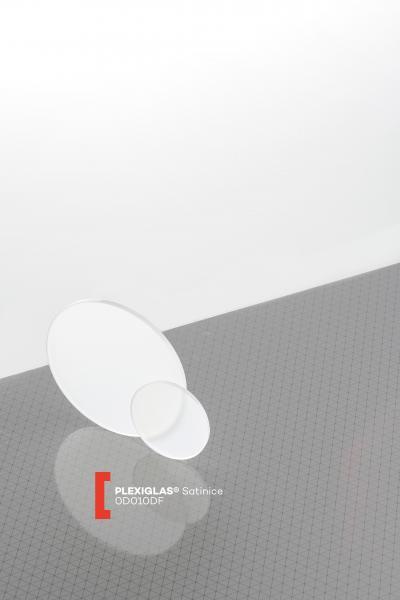 Bodenscheiben PLEXIGLAS® SATINICE 0D010 DF lichtdurchlässig transluzent hochglänzend UV absorbierend