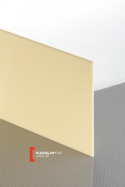 PLEXIGLAS® GS Cream 1H02 GT Sheet translucent highgloss UV absorbent