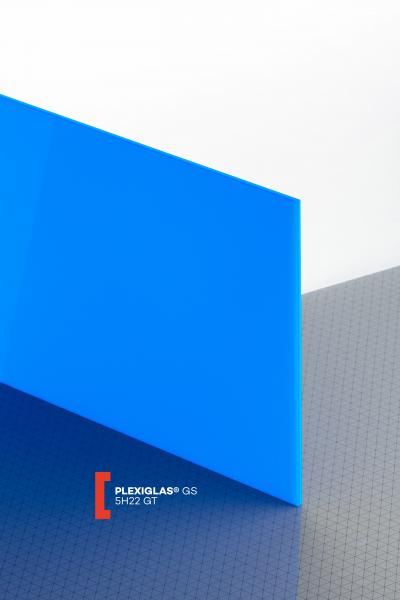 PLEXIGLAS® GS Blue 5H22 GT Sheet translucent highgloss UV absorbent