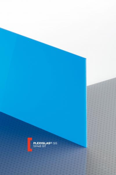 PLEXIGLAS® GS Blue 5H48 GT Sheet translucent highgloss UV transmitting