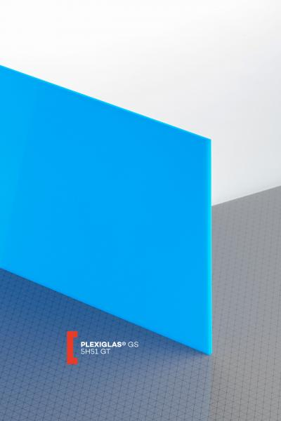 PLEXIGLAS® GS Blue 5H51 GT Sheet translucent highgloss UV absorbent