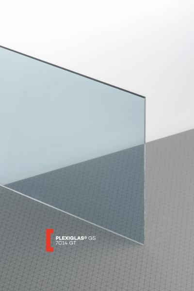 PLEXIGLAS® GS Grey 7C14 GT Sheet transparent highgloss UV absorbent