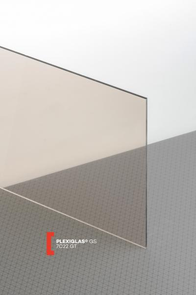 PLEXIGLAS® GS Grey 7C22 GT Sheet transparent highgloss UV absorbent