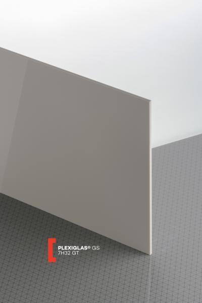 PLEXIGLAS® GS Grey 7H32 GT Sheet opaque highgloss UV absorbent