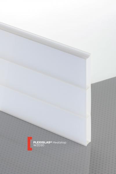 PLEXIGLAS® Heatstop Cool Blue WZ030 NH Stegplatte lichtdurchlässig transluzent nodrop & heatstop besonders schlagfest