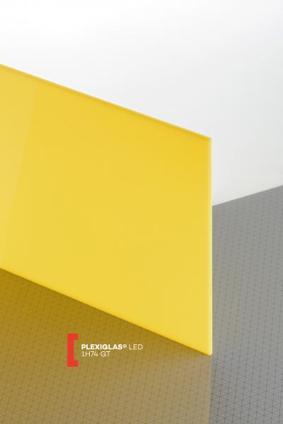PLEXIGLAS® LED Yellow 1H74 GT Sheet translucent highgloss