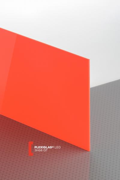 PLEXIGLAS® LED Red 3H68 GT Sheet translucent highgloss