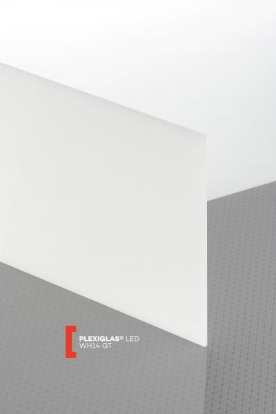 PLEXIGLAS® LED White WH14 GT Sheet translucent highgloss