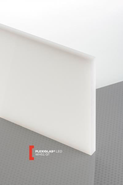 PLEXIGLAS® LED White WH51 GT Sheet translucent highgloss