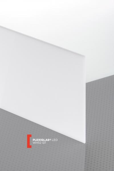 PLEXIGLAS® LED White WH52 GT Sheet translucent highgloss