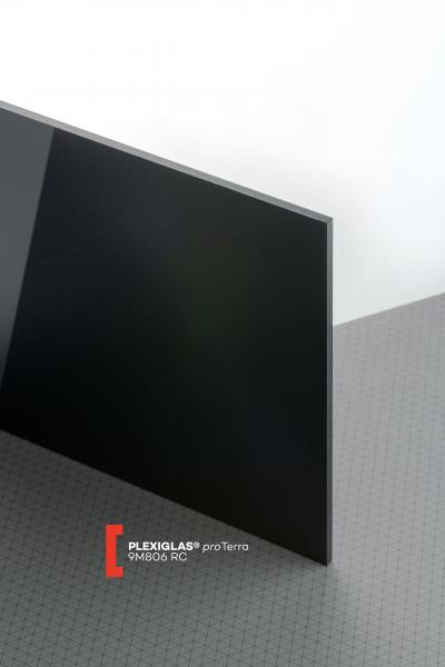 PLEXIGLAS® proTerra Black 9M806 RC Sheet opaque highgloss UV absorbent