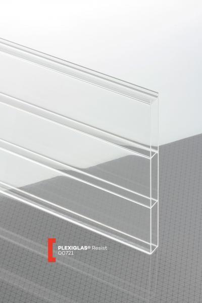 PLEXIGLAS® Resist Farblos 00721 N Stegplatte Blickdurchlässig transparent wasserspreitende Beschichtung besonders schlagzäh