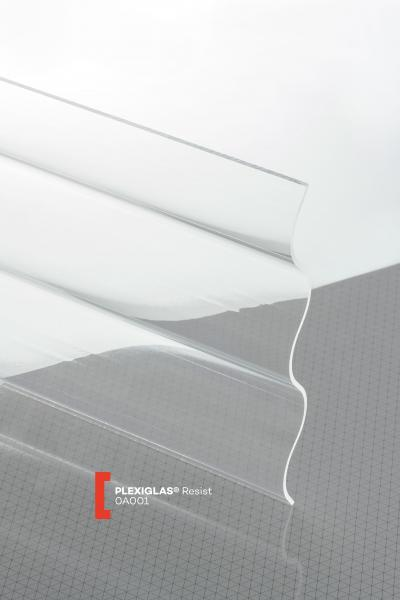 PLEXIGLAS® Resist Clear 0A001 GT transparent highgloss high impact resistance