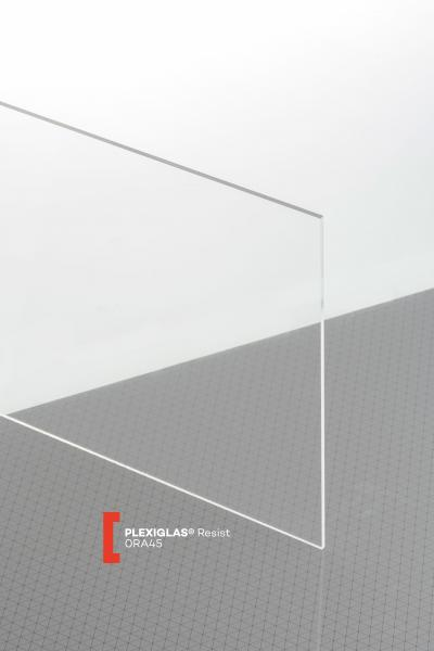 PLEXIGLAS® Resist Clear 0RA45 GT Sheet transparent highgloss