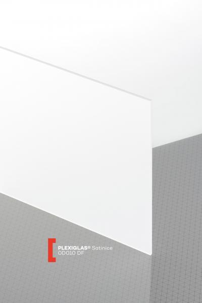 PLEXIGLAS® Satinice Clear 0D010 DF Sheet translucent matte / frosted UV absorbent