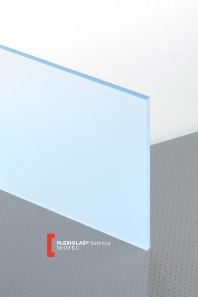 PLEXIGLAS® Satinice Ice Blue 5H03 DC Sheet translucent matte / frosted UV absorbent