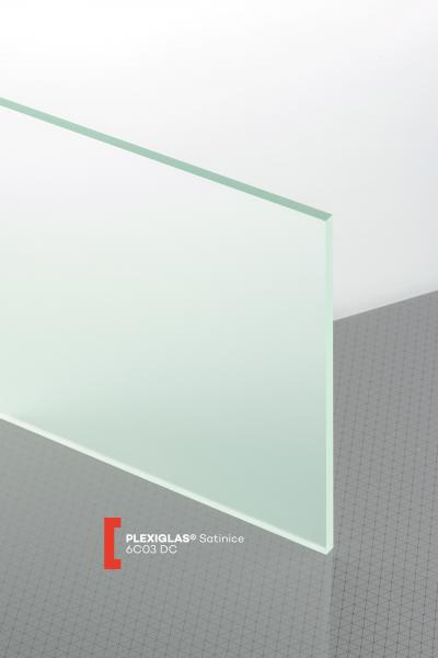 PLEXIGLAS® Satinice Ice Green 6C03 DC Plancha transparente mate satinada absorbe rayos UV