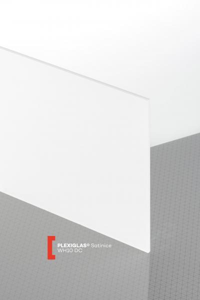 PLEXIGLAS® Satinice White Snow WH10 DC Sheet translucent matte / frosted UV absorbent