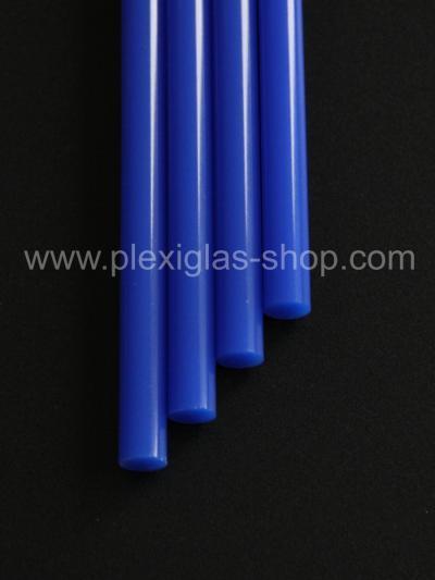 PLEXIGLAS® XT Blau 5N870 GT Rundstab lichtdurchlässig transluzent hochglänzend UV absorbierend
