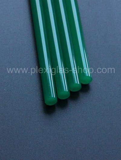 PLEXIGLAS® XT verde 6N570 GT Barra Redonda permeable a la luz translúcido alto brillo impermeable a los rayos UV