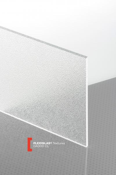 PLEXIGLAS® Textures Transparent 0A000 CL Plaque Transparence lumineuse transparent structurée absorbant les UV
