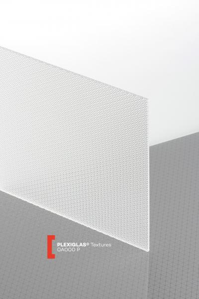 PLEXIGLAS® Textures Clear 0A000 P Sheet transparent ribbed UV absorbent