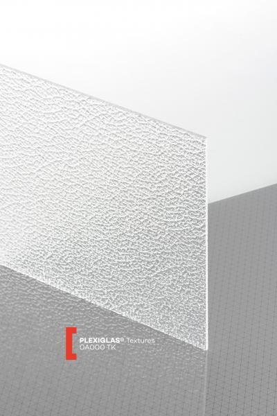 PLEXIGLAS® Textures Clear 0A000 TK Sheet transparent ribbed UV absorbent
