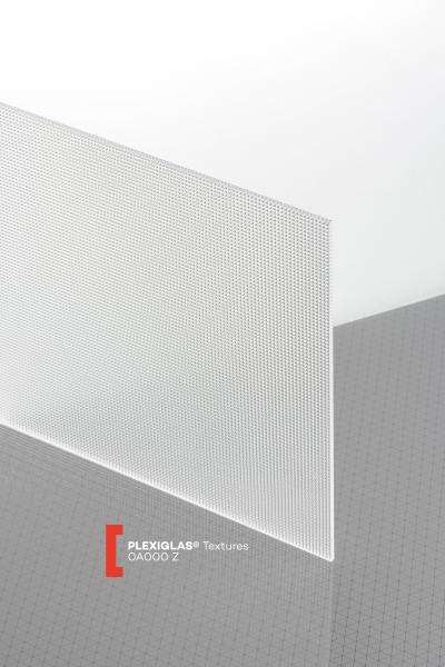 PLEXIGLAS® Textures Clear 0A000 Z Sheet transparent ribbed UV absorbent
