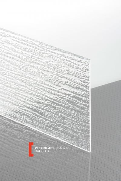 PLEXIGLAS® Textures Clear 0A000 BO Sheet transparent ribbed UV absorbent