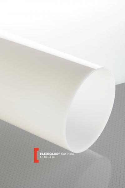 PLEXIGLAS® Satinice Clear 0D010 DF Tube translucent matte / forsted UV absorbent