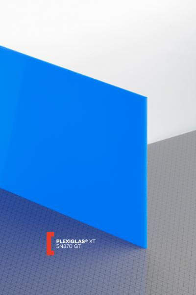 PLEXIGLAS® XT Blue 5N870 GT Sheet translucent highgloss UV absorbent