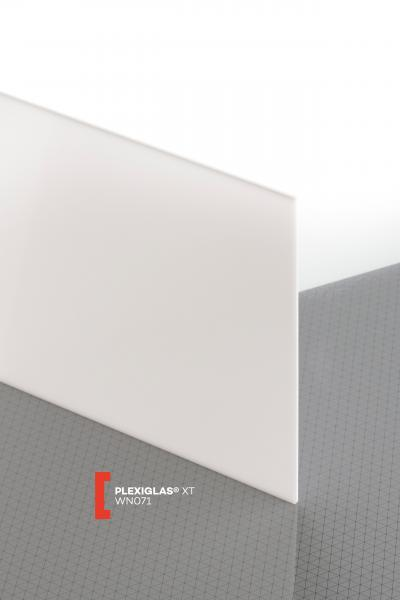 PLEXIGLAS® XT White WN071 GT Sheet translucent highgloss UV absorbent