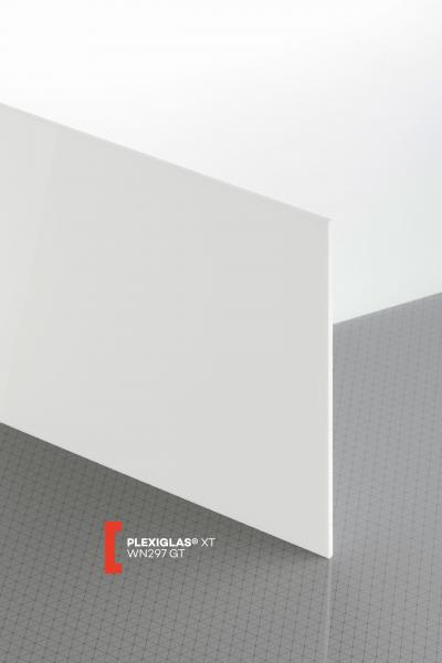 PLEXIGLAS® XT White WN297 GT Sheet translucent highgloss UV absorbent