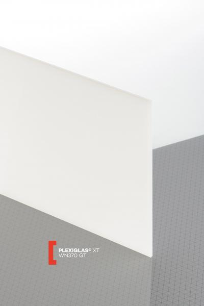 PLEXIGLAS® XT White WN370 GT Sheet translucent highgloss UV absorbent