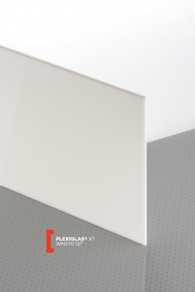 PLEXIGLAS® XT White WN970 GT Sheet translucent highgloss UV absorbent