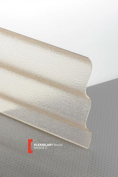 PLEXIGLAS® Resist Brown 8A003 C transparent ribbed high impact resistance