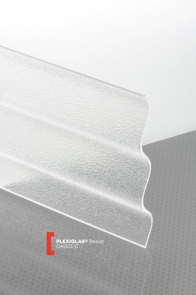 PLEXIGLAS® Resist Clear 0A001 C transparent ribbed high impact resistance
