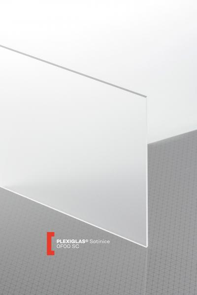 PLEXIGLAS® Satinice Clear 0F00 SC Sheet transparent matte / forsted UV absorbent