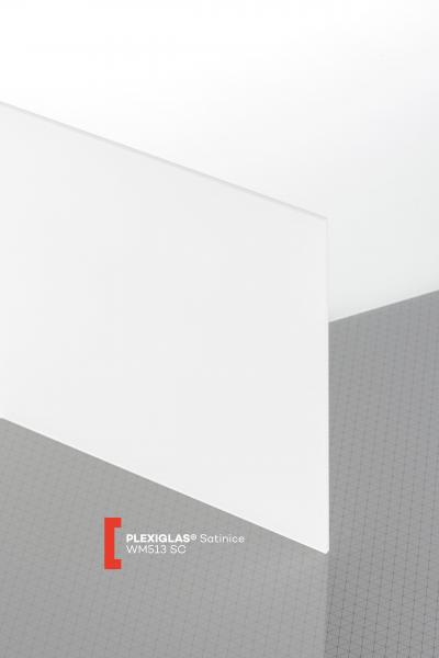 PLEXIGLAS® Satinice White Snow WM513 SC Sheet translucent matte / frosted UV absorbent