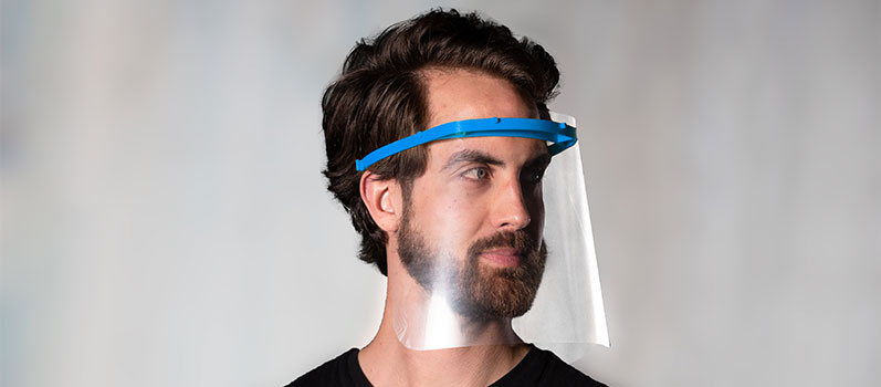 Visor with PLEXIGLAS® film